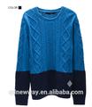 nuevo estilo de lana de cuello alto suéter de los hombres