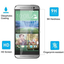 0.4mm Ultra Slim Crystal Clear Premium Tempered Glass Screen Protector for HTC one m8