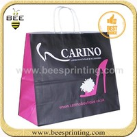 Paper shopping bags with handles at cheap wholesale prices Large Brown Kraft Paper Gift Bags