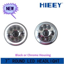 2015 Hotest sale 7 inch led headlight, DOT Approval Round 7 inch led Headlight for jeep wrangler , jeep wrangler headlight led