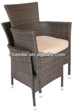 rattan furniture dining chair with aluminum frame