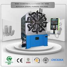 New design and high efficiency cnc wire rotation spring forming machine