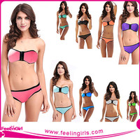 2015 Open hot sex bikini young girl swimwear neoprene bikini