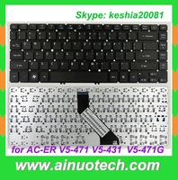 US PL FR GR TR SP RU IT AR UK Laptop Keyboard for acer V5-471 V5-431 V5-471G black Englsih Layout