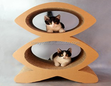 cat tree,cat scratching, 8 shape Scratching post with corrugated cardboard material for cat