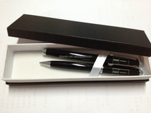 GMR0727 SHANGHAI DEWEN Gift pen set mechanical pencil& roller pen set with lay and tray pen box for pomotion use