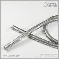 JS-12 Galvanized Steel Corrugated Flexible Metal Conduit Pipe / Snake Pipe
