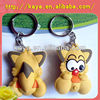 Customized soft PVC 3D keychains / embossed key chain / rubber double side 3d keychain