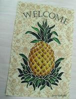 christmas decoration ,Wholesale personalised burlap garden flag