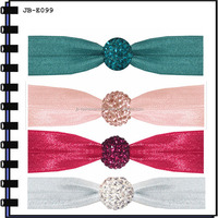 2014 Fashion Colorful Elastic Hair Band With Bead