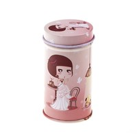 Lovely Girl Picture Tin Box| Custom Coffee Box | Cookie Packaging Box TB0009