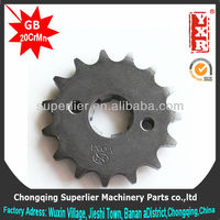 Professional produce sprocket assembly,NXR125 BROS KS 17T sprocket,420 and 428 motorcycle part china