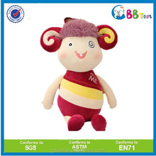 ICTI high funny quality plush toys for sales.Color the special model of lambs