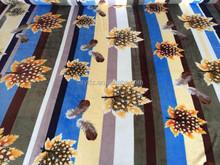 Leaf Printed Soft Coral Fleece Blankets Fabric Manufacturer