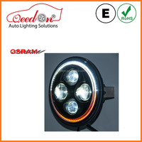 Qeedon ECE DOT with DRL with OSRAM chips led car headlight assembly kit for jeep 4x4