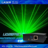 8W green waterproof laser light with high quality for outdoor stage performance