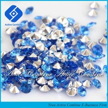 For North Amercia Sea Blue Luxury Wedding Decoration Recycle Silver Acrylic Diamonds