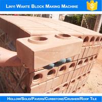 2015 WT1-25 manufacturing process of clay bricks, clay interlocking machine
