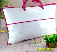 Transparent pe/ pvc/ vinyl quilt packing bag Promotional PVC clear plastic bag pillow packaging with black handles