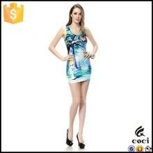 CCD049 Women 3D printed cat printed dress printed dress