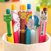 latest japanese stationery items, promotional factory direct rainbow design ballpoint plastic pen