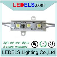 ce and rohs compliant 12v 0.24watt 3 led light module peel and stick