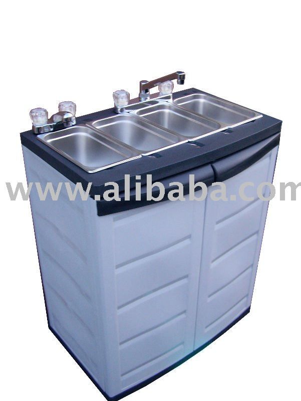 Portable Rv Sinks : Portable sink three compartment self contained buy
