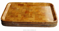 durable stylish natural bamboo serving tray rectangle tray