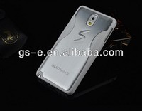 Luxury S style aluminum brush hard back cover case for Samsung Galaxy Note 3