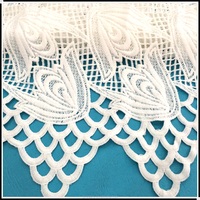 Water soluble embroideried white latest style african dry lace