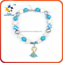 Latest Design 2015 chunky bubble necklace lowest price! Wholesale large chunky bead necklace for girls' best present!