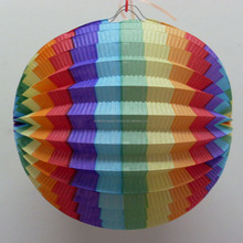 Hot Sell Rainbow color Honeycomb Paper Lantern Ball Wedding Party Decoration Supplies