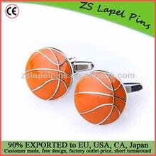 baseketball cufflinks/ sports cufflinks