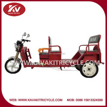 Guangzhou high quality 5 seat three wheel electric passenger tricycle
