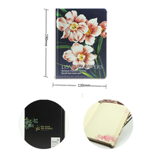 Flowers Pattern Hard Cover A5 Notebook with 80g wood-free Paper for Gifts