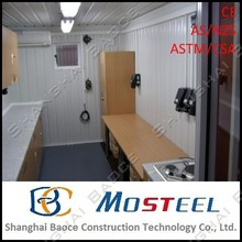 Hot recommend 20ft box standard prefabricated houses spain