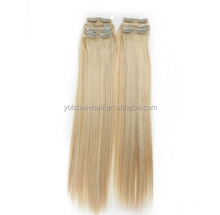 High quality F color #613/#12 clip in hair extensions.