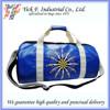 Fashionable Large Blue Color PU leather + Imitation Suede Travel Sport Duffel Bag