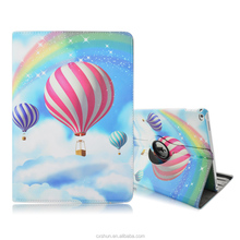 Hot-Air Balloon Skin 360-Degree Rotating Design 12.9inch Folio Stand PU Leather Cover Cases For iPad Pro with Elastic Belt