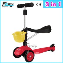 Fasy mini kick scooter for 3 in 1 kids push scooter