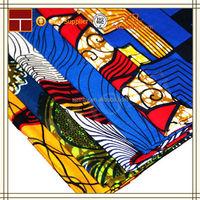 wholesale wax denim printed fabric