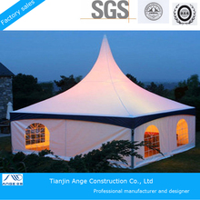 4MX4M Outdoor White PVC Pagoda Tent with ABS solid wall
