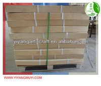 Curved wooden slats