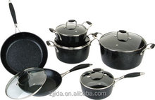 2015 HOT SALE ALUMINUM MARBLE COATING COOKWARE SET WITH SPOTS