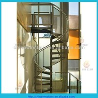 outdoor hot galvanization spiral staircase mesh railing spiral stairs