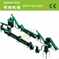 PET bottle recycling plant/PET washing line/plastic recycling machine
