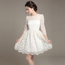 2014 new elegant white women's lace white dress SV002969