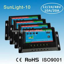 12v 24v pwm regulador de carga 10a con temporizador y control de la luz