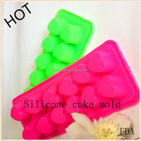 innovation food-grade 12 cavity heart silicone cake mould chocolate molds ice tray cookies mold Homemade Craft