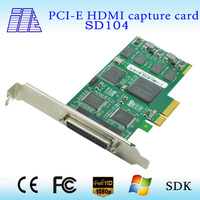 on sale 1 VGA + quad SD video capture card support SDK low cost